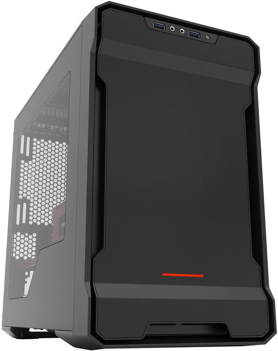 PHANTEKS Enthoo Evolv ITX, okno, černo-červená