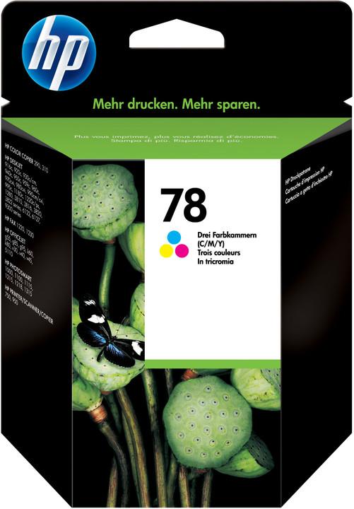 HP C6578A, no.78, barevná – ušetřete až 50 % oproti standardní náplni