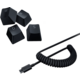 Razer PBT Keycap + Coiled Cable Upgrade Set, Classic Black