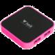 Beik HYD-9003B, USB HUB 4 porty, USB 3.0, růžová