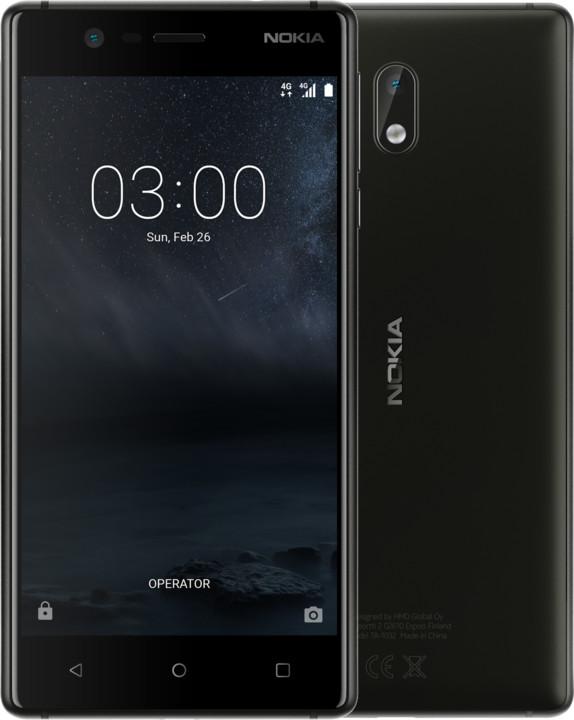 Nokia 3, Single Sim, černá