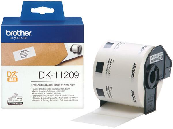 Brother - DK11209 (papírové/ úzké adresy - 800ks) 29 x 62mm