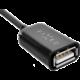 FIXED MicroUSB OTG adaptér pro mobilní telefony a tablety, USB 2.0, černý