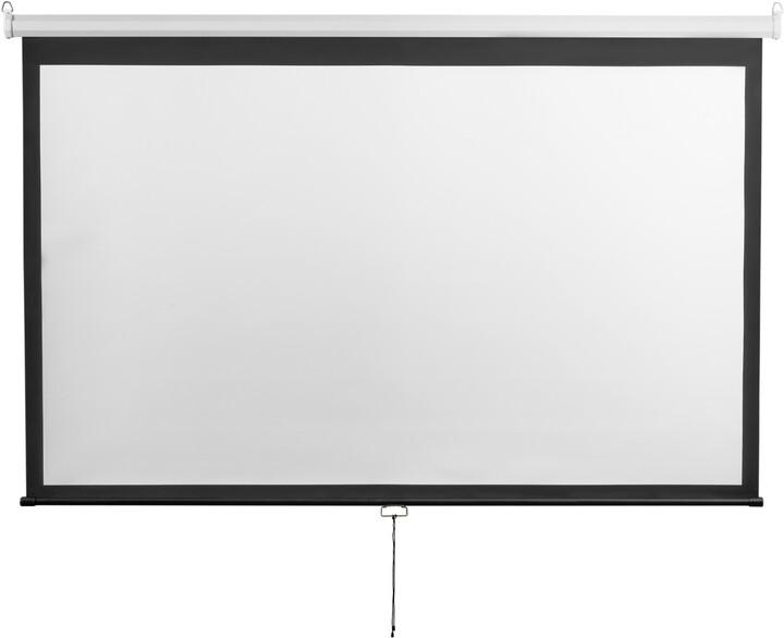 """MAX projekční plátno roletové 100"""", 221x124cm, (16:9)"""