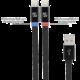Scosche flatOUT iLED 3F kabel s certifikovaným Ligtninig konektorem a LED indikátorem