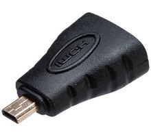 Akasa redukce micro HDMI - HDMI, M/F, 4K@60Hz, 15cm - AK-CBHD22-BK