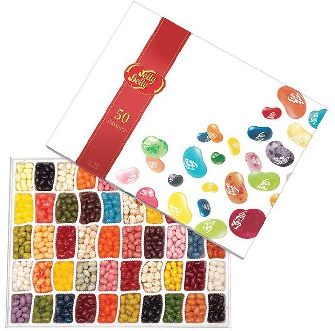 Jelly Belly 50 Chutí 600g Gift Box