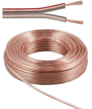 Kabel PremiumCord na propojení reprosoustav 100% měď, 2x1,5mm, 10m