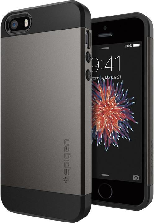 Spigen Slim Armor kryt pro iPhone SE/5s/5, gun metal