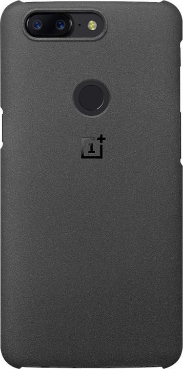 OnePlus Sandstone zadní kryt pro OnePlus 5T, černý