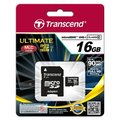 Transcend Micro SDHC 16GB Class 10 UHS-I + adaptér
