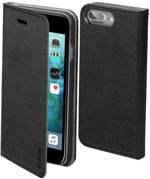 SBS Book Case pouzdro pro iPhone 8/7/6S/6 Plus, černá
