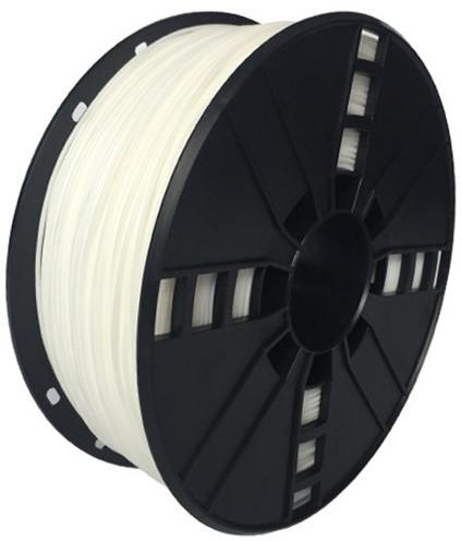 Gembird tisková struna (filament), flexibilní, 1,75mm, 1kg, bílá