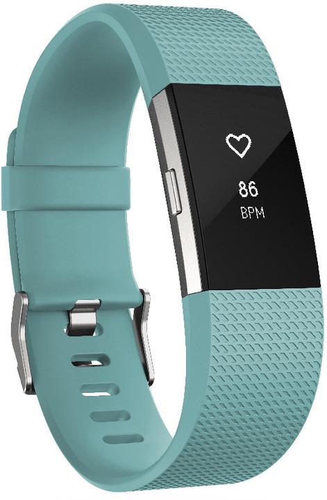 Fitbit Charge 2, S, modrozelená