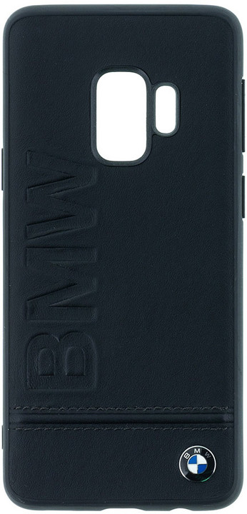 BMW Signature Real Leather Hard Case pro Samsung G960 Galaxy S9 - Black