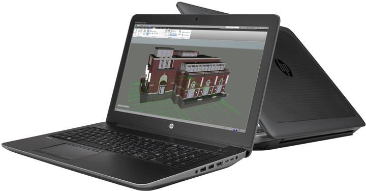 HP ZBook 15 G3, černá