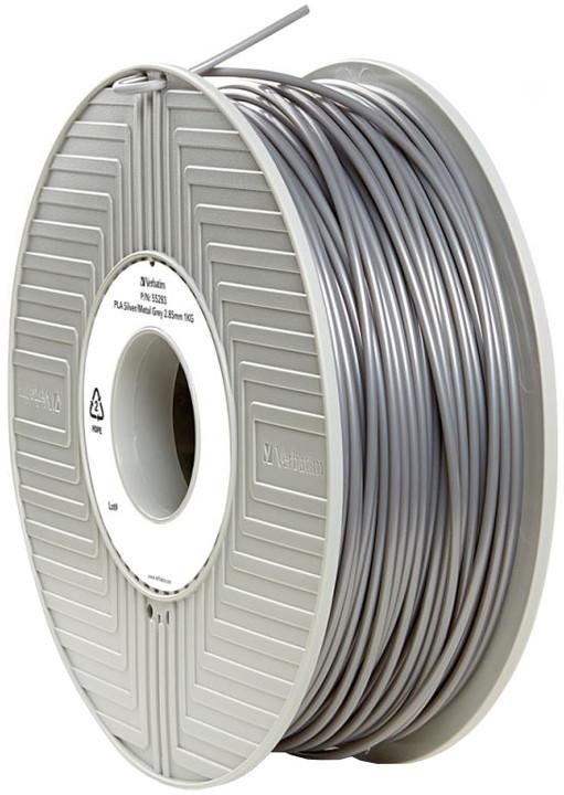 Verbatim tisková struna (filament), PLA, 2,85mm, 1kg, stříbrná