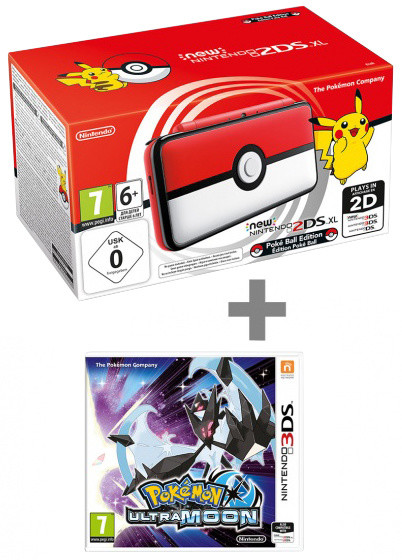 Nintendo New 2DS XL, Pokéball Edition + Pokémon Ultra Moon
