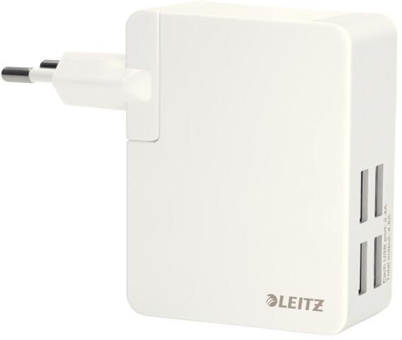 Leitz Complete - Síťový adaptér - USB - 4.8 A - 4 výstupní konektory - bílá