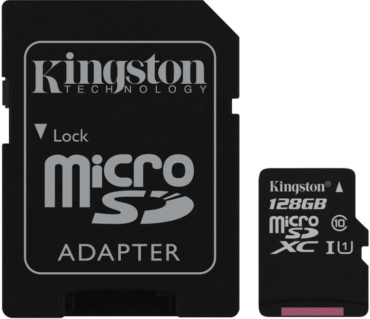 Kingston Micro SDXC Canvas Select 128GB 80MB/s UHS-I + SD adaptér