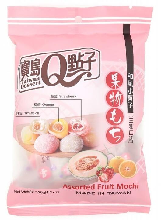 Mochi rýžové koláčky individuálně balený ovocný mix 120 g