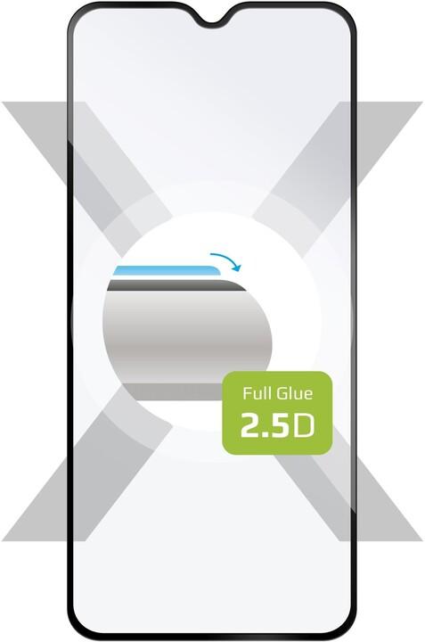 FIXED ochranné tvrzené sklo Full-Cover pro Xiaomi Redmi Note 8T, lepení přes celý displej, černá