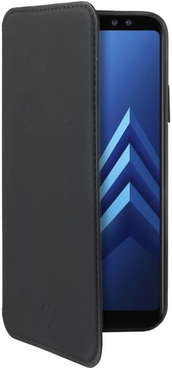CELLY Prestige pouzdro typu kniha pro Samsung Galaxy A8 (2018), PU kůže, černé