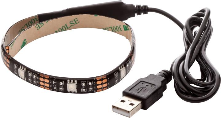 OPTY USB LED pás 30cm, RGB, integrovaný ovladač