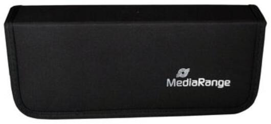 MEDIARANGE obal na Flashdisky a SD karty (10+5), černá