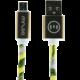 MIZOO USB/micro USB kabel X28-03m, žlutě květovaný