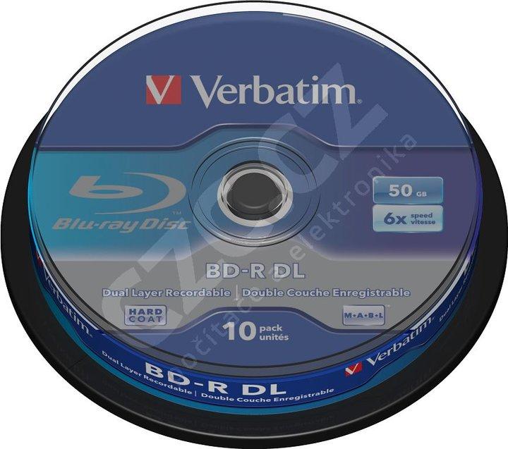 Verbatim BD-R DL, 6x, 50GB, 10ks Spindle (43746)