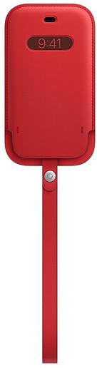 Apple kožený návlek s MagSafe pro iPhone 12 mini, (PRODUCT)RED - červená