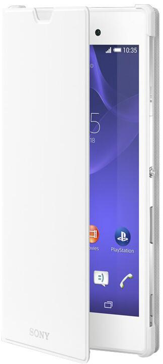 Sony flipový kryt SCR16 pro Xperia T3, bílá