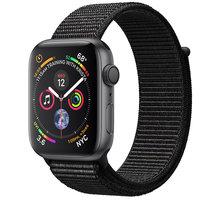 Apple Watch series 4, 44mm, pouzdro z vesmírně šedého hliníku/černý provlékací řemínek