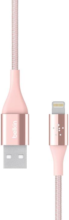 Belkin Prémiový Kevlar kabel, 2.4A, rose gold