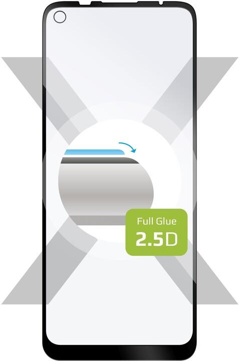 FIXED ochranné tvrzené sklo pro Motorola Moto G9 Power, Full-Cover, černá