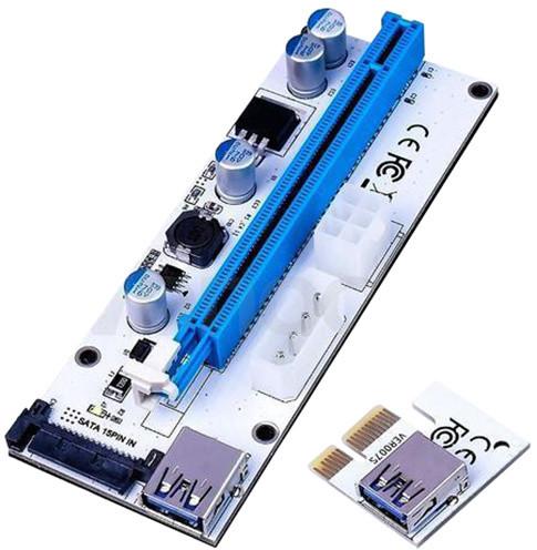 ANPIX ver008s TRIO redukce (verze bílá) PCIe x1 na PCIe x16 (pro těžbu kryptoměny)