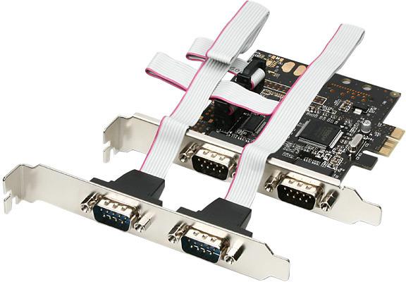 AXAGON PCI-Express adapter 4x sériový port
