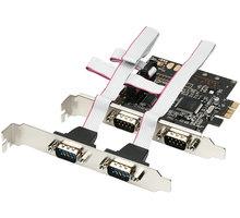 AXAGON PCI-Express adapter 4x sériový port - PCEA-S4
