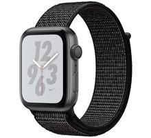 Apple Watch Nike+ Series 4, 44mm, pouzdro z vesmírně šedého hliníku/černý provlékací řemínek