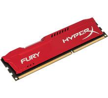 HyperX Fury Red 4GB DDR3 1600 CL10 O2 TV Sport Pack na 3 měsíce (max. 1x na objednávku)