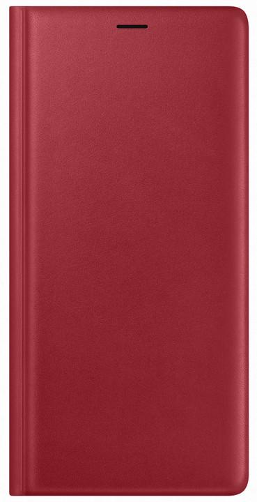 Samsung Galaxy Note 9 kožené flipové pouzdro, červené
