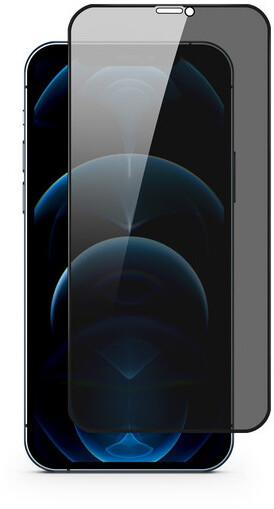 EPICO tvrzené sklo Edge to Edge PRIVACY GLASS IM pro iPhone 12 Pro Max, černá