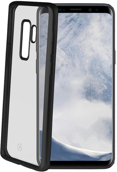 CELLY Laser TPU pouzdro - lemování s matným kovovým efektem pro Samsung Galaxy S9 Plus, černé