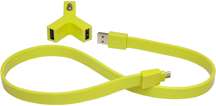 TYLT Y-CHARGE - 2.1A + Syncable Lightning Green
