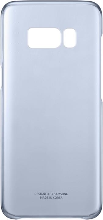 Samsung S8 poloprůhledný zadní kryt, modrá