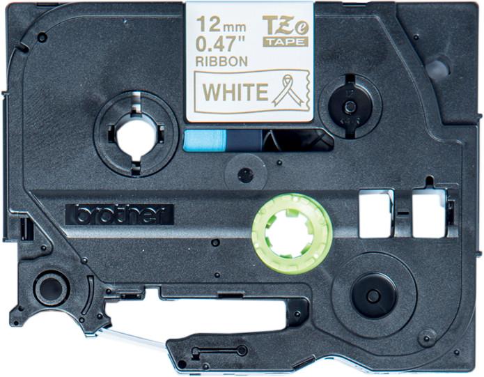 Brother TZE-R234 bílá / zlatá, 12 mm, 4m