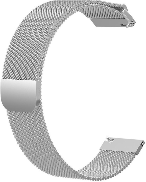 ESES milánský tah pro Samsung Galaxy Watch 46mm/ Samsung Gear S3/ Huawei Watch 2, stříbrná