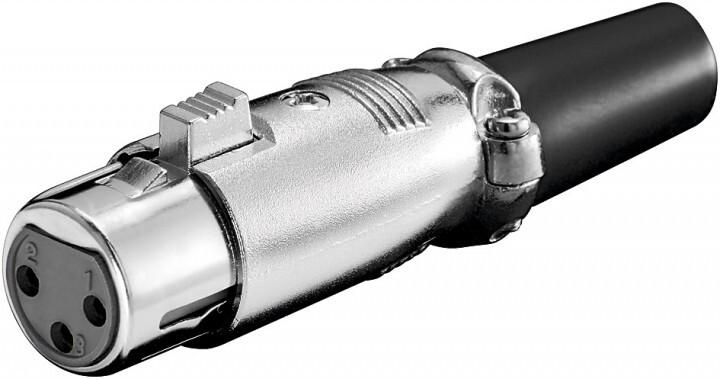 PremiumCord XLR mikrofonní konektor, 3-piny, female