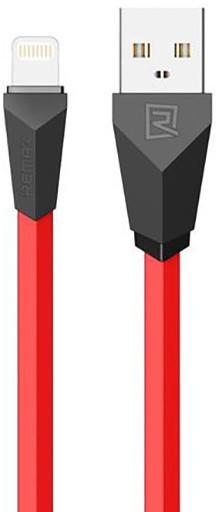Remax Alien datový kabel s lightning, 1m, červeno-černá
